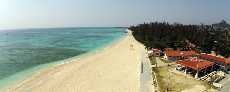 Beach of Ie village