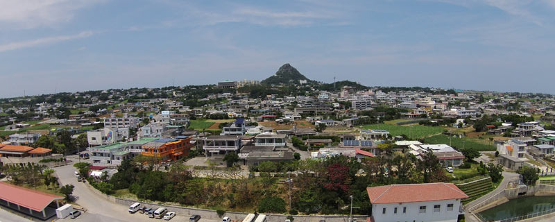 Ie village whole view